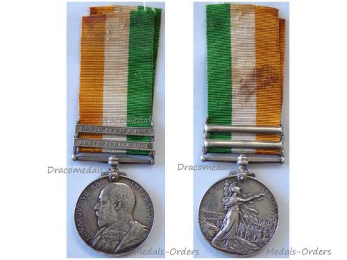 Britain King's South Africa Military Medal Bars 1901 1902 British Decoration NCO Sergeant Grenadier Guards Boer War 1899