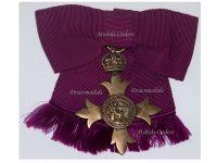 Britain WW1 Officer Order British Empire Cross Civil Medal OBE Decoration Dated 1918 Cross Great War Award Maker Garrard