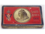 Britain Queen Victoria Chocolate Tin Christmas New Year Gift 1900 South Africa Boer War Rowntree's Type