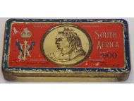 Britain Queen Victoria Chocolate Tin Christmas New Year Gift 1900 South Africa Boer War Cadbury's Type