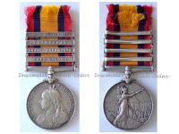 Britain Queen's South Africa Medal QSM bars 1901 Transvaal Cape Colony Orange Free State Cheshire Reg British Boer War 1899