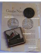 Britain WWI RMS Lusitania Sinking Propaganda Medal with Leaflet Boxed