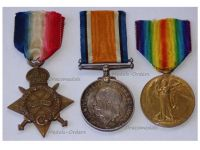 Britain WW1 Victory Interallied War Medal 1914 1915 Star Military Medals set Trio British Army Royal Field Artillery