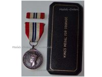 Britain WWII King's Medal for Courage in the Cause of Freedom 1939 1945 Boxed by the Royal Mint