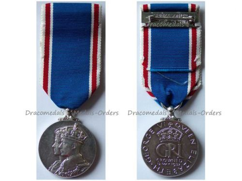 Britain Coronation Medal 1937 King George VI Queen Elizabeth Military Civil Decoration British Commonwealth by Spink & Son