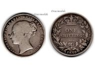 Great Britain 1 one Shilling Coin 1859 Queen Victoria British Empire United Kingdom Bill Currency