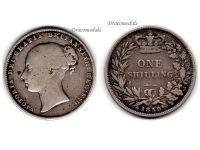 Great Britain 1 one Shilling Coin 1859 Queen Victoria British Empire United Kingdom Bill Currency