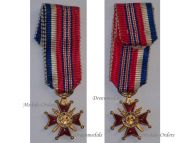 France Britain WW2 Franco British Association Knight's Cross Military Medal French Decoration 1939 1945 MINI