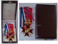 France Britain WW2 Franco British Association Commander's Cross Military Medal French Decoration 1939 1945 1st Type Boxed