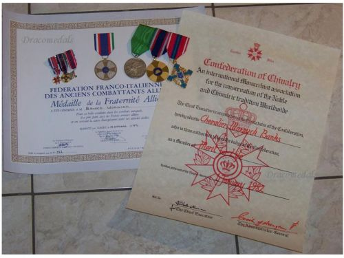Britain France Italy French Italian Association WWII Veterans Medals Decorations WW2 Military set 1939 1945
