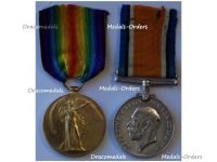 Britain WWI Pair Victory Interallied War Medal 1914 1918 to Royal Naval Reserve Officer