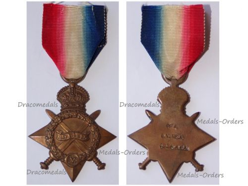 Britain WWI 1914-15 Star 1st SAMR South African Mounted Riflemen