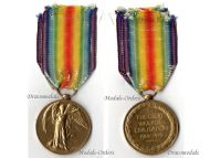 Britain WW1 Victory Interallied Military Medal Royal East Kent Regiment The Buffs KIA 1916 Loos WWI 1914 1918 British Decoration Great War