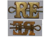 Great Britain WW2 Royal Engineers RE Shoulder title Badge WWII 1939 1945 British Army Insignia