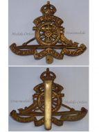 Great Britain WW1 Royal Artillery cap badge WWI 1914 1918 British Army Insignia Kings Crown Great War