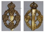 Great Britain WW2 Royal Electrical Mechanical Engineers REME cap badge WWII 1939 1945 British Insignia