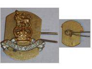 Great Britain Royal Army Pay Corps RAPC Collar Badge Queen's Crown 1952 Korean War British Insignia