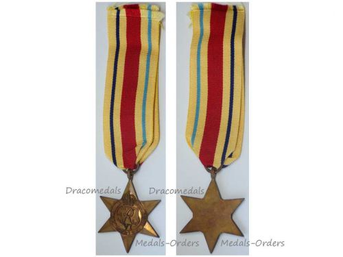 Britain WW2 Africa Star Military Medal WWII 1939 1945 British Campaign El Alamein Decoration King George VI