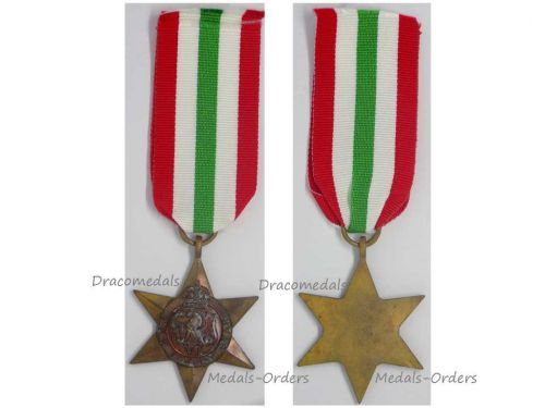 Britain WWII Italy Star Military Medal WW2 1939 1945 British Campaign  Greece Aegean Dodecanese Sicily