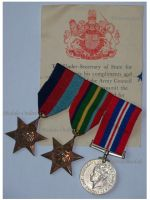 Britain WW2 Pacific Star 3 Medals 1939 1945 War Commemorative Medal Royal Army set Diploma British WWII Decorations
