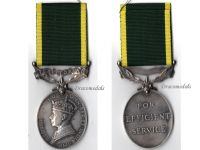 Britain WW2 Efficiency Medal Territorial 1937 1948 British Military NCO RASC 1st type Decoration King George VI