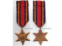 Britain WW2 Burma Star Military Medal WWII 1939 1945 British Campaign Decoration Award King George VI