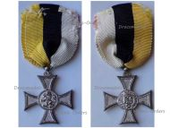 Bulgaria Silver Cross Long Military Service in the Army X 10 Years II Class for Officers Tsar Boris III