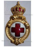 Bulgaria Badge of Merit Royal Bulgarian Red Cross 1887 1st Type King Ferdinand I Balkan Wars 1912 1913 Great War 1914 1918
