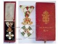Bulgaria Order Cross Crown Civil Merit 4th Class King Ferdinand Military Medal Decoration Award 1908 WW1 1914 1918 Boxed