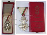 Bulgaria Order Silver Cross Crown Civil Merit VI Class Boris Military Medal Decoration Award WW1 WW2 1918 1944