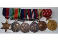 Canada WWII Set of 6 Medals 1939 1945 Star Defense War Voluntary Service UN UNEF Medal Canadian Forces Decoration