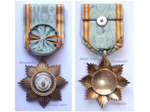Comoros WWI Royal Order of the Star of Anjouan Officer's Star by Chobillon