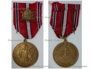 Czechoslovakia WWII Loyal Defense Medal for the Slovakian Volunteers on the 20th Anniversary of Independence 1918 1938