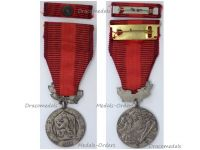 Czechoslovakia Silver Medal Merit Defense Homeland Military Decoration 1960 Czech Award Marked 900 Maker Zukov w Ribbon Bar