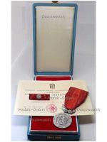 Czechoslovakia Silver Medal Merit Defense Homeland Military Decoration CSSR Czech Marked 925 Maker Zukov Ribbon Bar Diploma Captain 1971 Boxed