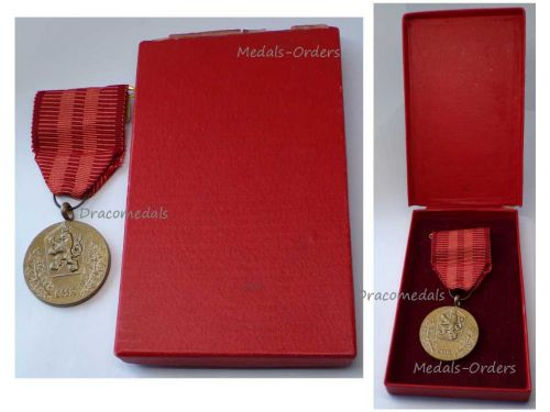 Czechoslovakia Homeland Service Military Medal Decoration 1960 Czech Award  Boxed