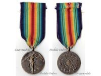 Czechoslovakia WWI Victory Interallied Medal Marked by Leisek Laslo Unofficial Type 1