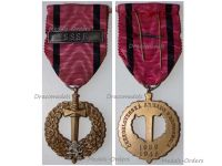 Czechoslovakia WWII Czechoslovak Army Abroad Medal 1939 1945 with Bar USSR