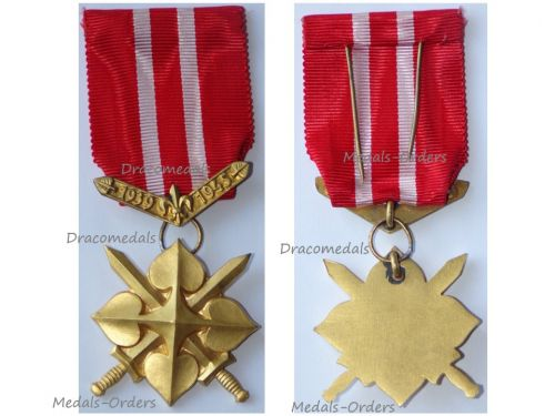 Czechoslovakia WWII Scouts Cross for Homeland 1939 1945 Gold 1st Class