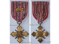 Czechoslovakia WW2 War Cross 1939 1945 Linden Leaves Citation Military Medal WWII Czechoslovakian Czech Decoration