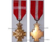 Denmark WW1 Loyal Service Good Conduct Cross 16 years Military Medal Christian X 1912 1947 Danish Decoration