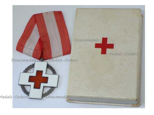 Denmark WW2 Danish Red Cross Commemorative Medal Wartime Relief Work King Christian X Boxed Maker Michelsen WWII 1939 1945