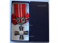 Finland WW2 Order Cross Liberty Swords IV Class 1941 Continuation War Finnish Decoration Award WWII 1944 Boxed