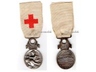 France Red Cross Medal French Association Aid Wounded SB 1864 1866 Silver type