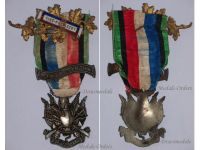 France Franco Prussian War Veterans Military Medal 1870 1871 bar Vice President Oublier Jamais Decoration French