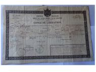 France Army Discharge Document of an NCO of the 80th Infantry Regiment of the Line (Promoted to Captain, Served in Crimea 1855 & the Italian Campaign 1860)