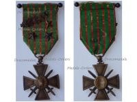 France WWI War Cross 1914 1915 with 4 Citations Palms 3 Stars (1 Bronze 1 Silver 1 Gold) & Officer's Bar