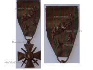 France WWI War Cross 1914 1915 with 3 Citations Palms 2 Bronze Stars