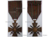 France WWI War Cross 1914 1915 with 1 Citation Silver Star