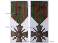 France WWI War Cross 1914 1916 with 2 Citations 2 Bronze Stars